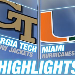 Georgia Tech vs Miami | 2014-15 ACC Men's Basketball Highlights