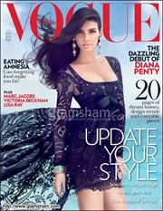 Diana Penty scorches in black on Vogue cover