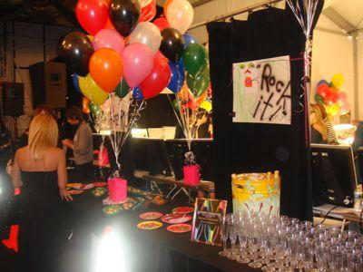 Backstage at Betsey is a party in itself. Every season there's champagne, trays of candy, balloons, and a DJ. And this is just the pre-show!