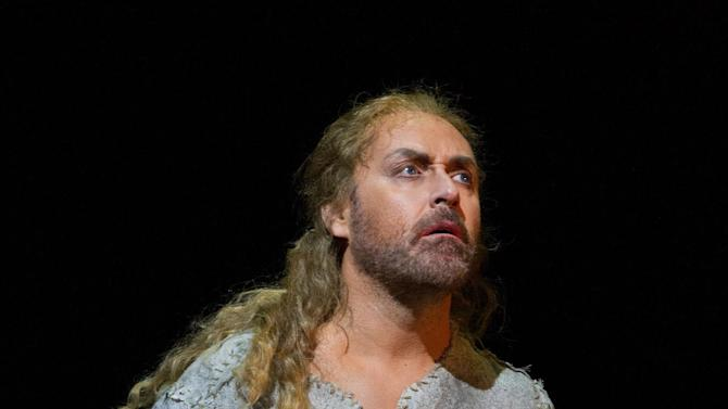 """This April 18, 2013 photo provided by the Metropolitan Opera shows Lars Cleveman as Siegfried in a dress rehearsal of Wagner's """"Götterdämmerung,"""" at the Metropolitan Opera in New York. The Swedish tenor Lars Cleveman took over the character from Jay Hunter Morris and appeared in the title role of """"Siegfried"""" Wednesday, May 8, in the third opera of the """"Ring"""" cycle,  proving himself to be a solid if unspectacular successor.(AP Photo/Metropolitan Opera, Marty Sohl)"""
