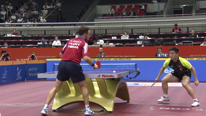 This table tennis shot is so unbelievable it looks illegal