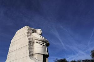 A general view of the Martin Luther King Jr. Memorial on the U.S. national holiday in his honor, in Washington