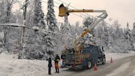 Hydro Quebec said hundreds of employees have been working since Friday to restore power to affected customers.