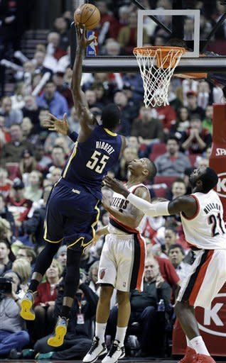 Aldridge has 27 and Blazers beat Pacers 100-80