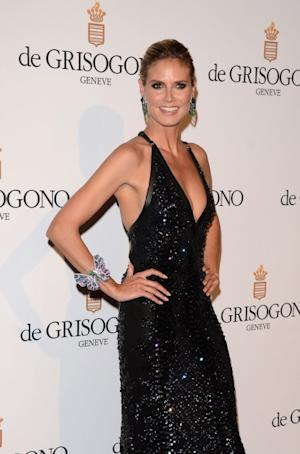 Heidi Klum steps out in style at the de Grisogono Party during the 65th Annual Cannes Film Festival at Hotel Du Cap in Antibes, France on May 23, 2012 -- Getty Premium