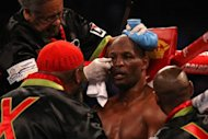 Bernard Hopkins during his World Boxing Council light-heavyweight fight against Chad Dawson on April 28. Hopkins has no plans to retire from boxing after losing his crown to Dawson. Instead, boxing's oldest-ever champion wants to win another title