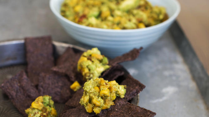 In this image taken on January 7, 2013, chipotle corn guacamole is shown in Concord, N.H. (AP Photo/Matthew Mead)