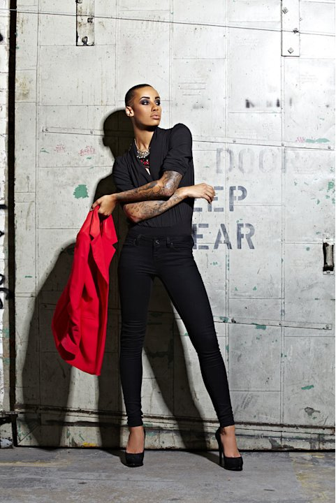Azmarie in a photo shoot on &quot;America's Next Top Model.&quot; 