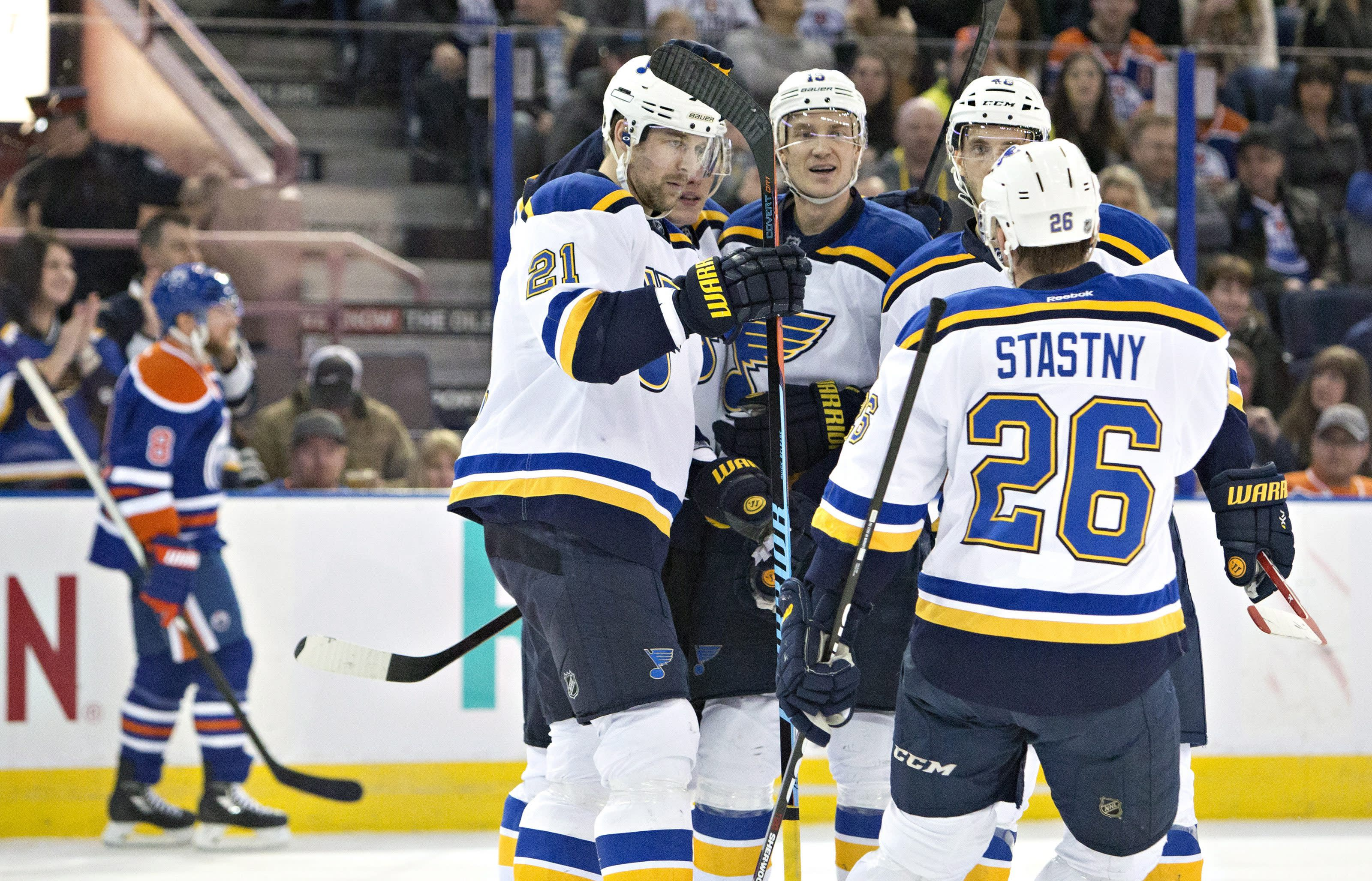 Paul Stastny scores winner in Blues' 2-1 victory over Oilers