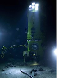 The historic Deepsea Challenge submersible.