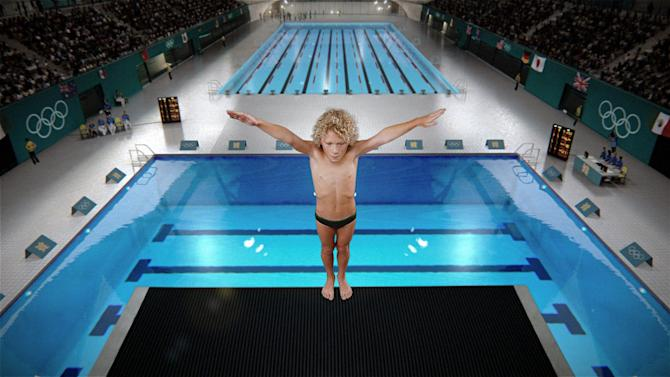 "This undated handout photo provided by Proctor & Gamble, shows the world's largest consumer products maker's new marketing efforts in honor of the London Olympics as revealed, Wednesday, July 11, 2012.  The ad, titled ""Kids"" which will begin airing on TV globally after it debuts online, shows athletes arriving at the London Olympics and getting ready to compete, but they're all young children. As a mom watches her son on the diving board, copy reads: ""To their moms, they'll always be kids."" The spot ends with P&G's umbrella tagline ""P&G, proud sponsor of moms."" (AP Photo/Proctor & Gamble)"