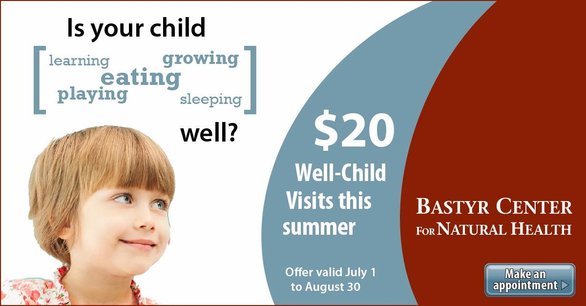 $20 Well-Child Visits this Summer