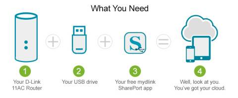 D-Link Gives Customers Ability to Turn Existing USB Drives into Free and Private Cloud Storage