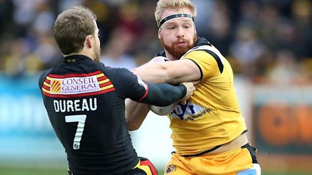 Scott Dureau, pictured (left), against Castleford before sustaining his arm injury