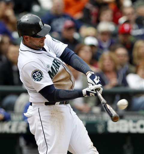 Liddi's slam leads Seattle past Texas 5-3