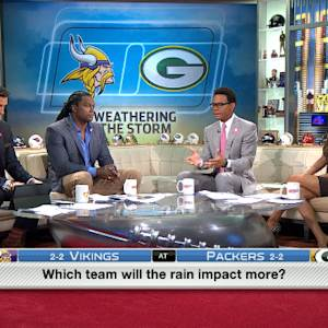 Will rain impact the Green Bay Packers or Minnesota Vikings more?