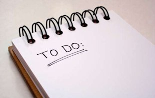 Write yourself a daily to-do list to help take control of your life