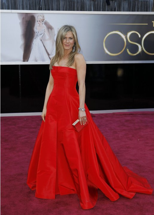 Jennifer Aniston arrives at the 85th Academy Awards in Hollywood,