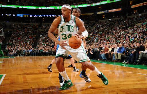 Pierce, Garnett lead Celtics over Magic 97-84