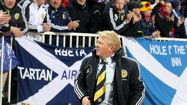 Gordon Strachan was upbeat despite the defeat in Serbia