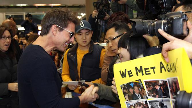 Tom Cruise Arrives In South Korea