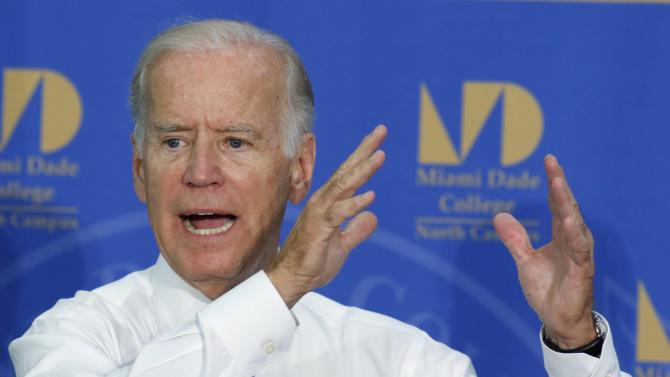 U.S. Vice President Biden speaks at Miami Dade College North Campus in Miami