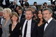"The members of the Un Certain Regard Jury (from L) French director Tonie Marshall, the Head of Cinemas at Centre Pompidou in Paris Sylvie Pras, British actor and Jury President Tim Roth, French actress Leïla Bekhti and Argentinian cinema critic Luciano Monteagudo pose for a picture. ""After Lucia"" won the top prize"
