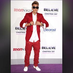 Justin Bieber Kicks Off His Believe Movie Premiere With Some Flashy Footwear