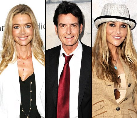 Denise Richards Helps Charlie Sheen Host Birthday Party for Brooke Mueller
