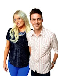In this undated supplied publicity photo 2 Day FM radio presenters Mel Greig, left, and Michael Christian pose. Greig and Christian during their radio program Tuesday, Dec. 4, 2012, impersonated Britain&#39;s Queen Elizabeth II and the Prince of Wales to dupe hospital staff into giving information on the condition of the former Kate Middleton who was suffering severe morning sickness. (AP Photo/AAP Image, Southern Cross Austereo Sydney) Australia Out, Editorial Use Only, No Archiving