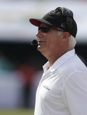 Falcons seeing red after loss to Dolphins