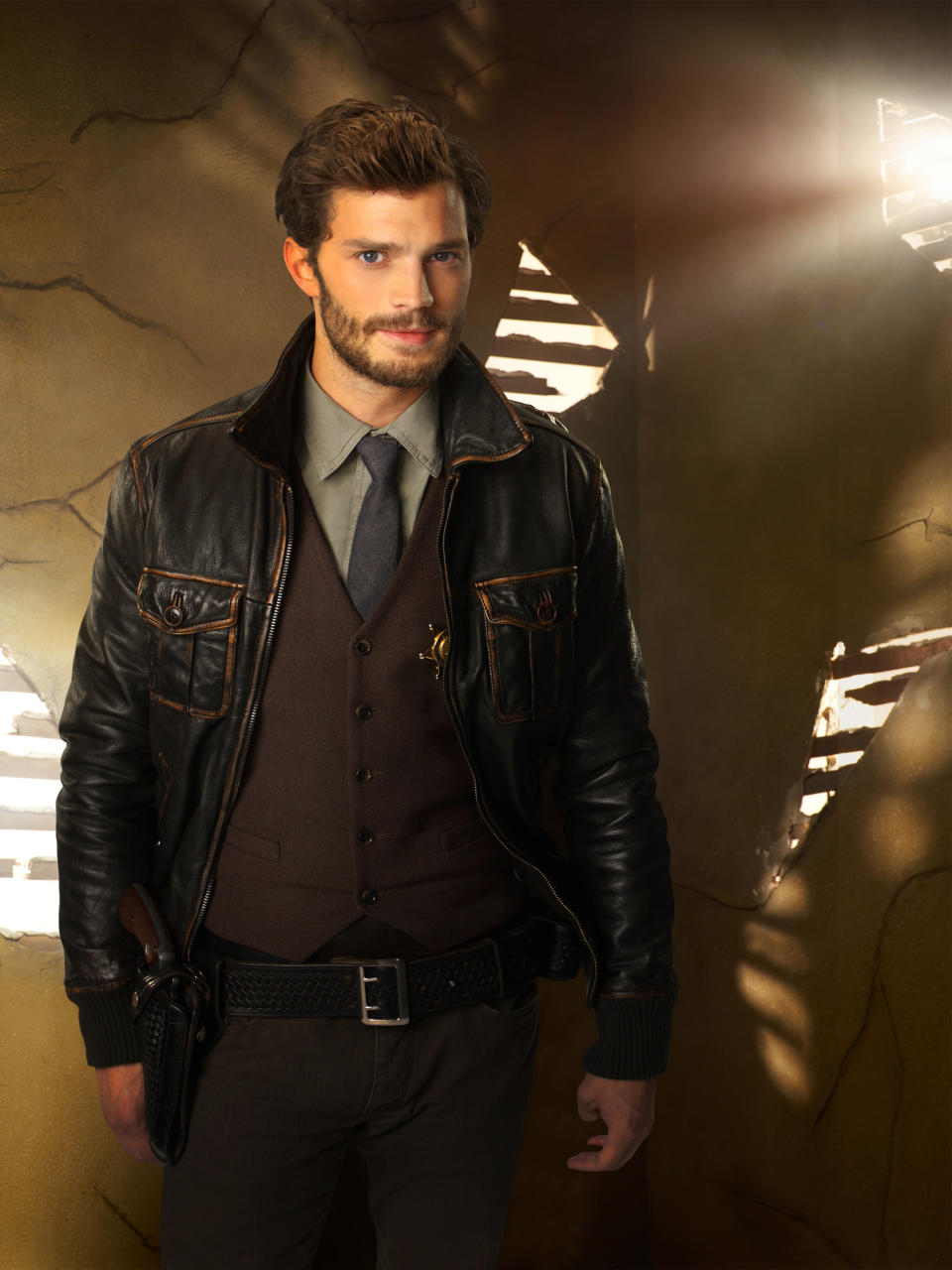 "In this photo released by ABC, Jamie Dornan guest stars as Sheriff Graham on ABC's ""Once Upon a Time."" ""Fifty Shades of Grey"" has its male lead, again. Dornan has been cast as Christian Grey, the lead role that Charlie Hunnam withdrew from recently. (AP Photo/ABC, Craig Sjodin/Kharen Hill)"