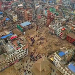 Shocking Nepal Earthquake Drone Footage | What's Trending Now