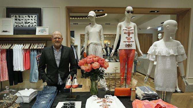 J. Crew CEO Mickey Drexler poses after an interview at the new J. Crew store in Hong Kong, Wednesday, May 21, 2014. U.S. fashion retailer J. Crew is opening a pair of shops in Hong Kong. It's the latest Western brand carving out a foothold in the notoriously high-rent city as it explores future expansion in the lucrative China market. (AP Photo/Vincent Yu)