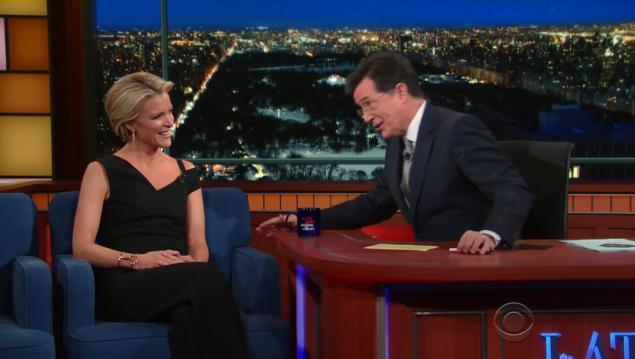Megyn Kelly Tackles Trump, O'Reilly On Stephen Colbert's Post-Super Bowl 'Late Show'