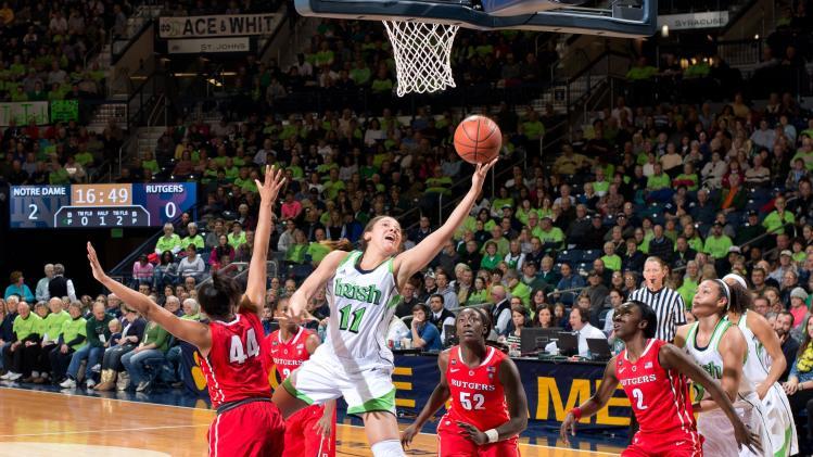 NCAA Womens Basketball: Rutgers at Notre Dame