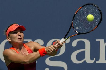 Halep eases into second round at U.S. Open