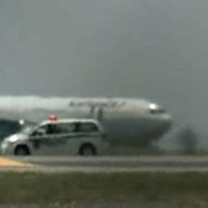 Raw: Air France Jet Searched at JFK Amid Threat