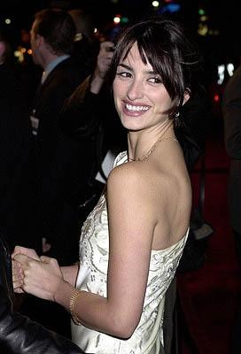 Penelope Cruz at the Hollywood premiere of Vanilla Sky