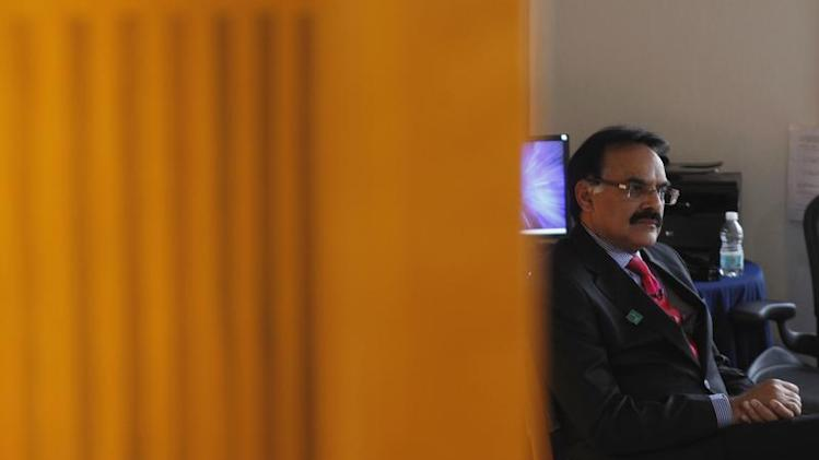 India's Economic Affairs Secretary Mayaram attends an interview with Reuters at a hotel during his visit for the G20 meeting in Mexico City