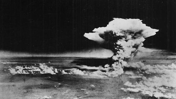 FILE - In this Aug. 6, 1945 file photo released by the U.S. Army, a mushroom cloud billows about one hour after a nuclear bomb was detonated above Hiroshima, Japan. A contentious debate over nuclear power in Japan is also bringing another question out of the shadows: Should Japan keep open the possibility of making nuclear weapons _ even if only as an option?  It may seem surprising in the only country ever devastated by atomic bombs, particularly as it marks the 67th anniversary of the bombings of Hiroshima on Aug. 6, 2012, and Nagasaki three days later. The Japanese government officially renounces nuclear weapons, and the vast majority of citizens oppose them. (AP Photo/U.S. Army via Hiroshima Peace Memorial Museum, HO, File) NO SALES, CREDIT MANDATORY