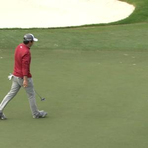 Jon Curran drains back-to-back birdies at The RSM Classic