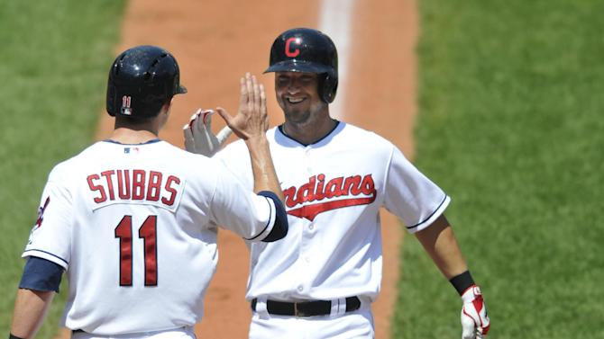 Raburn homers twice, has 4 RBIs as Indians win 6-1