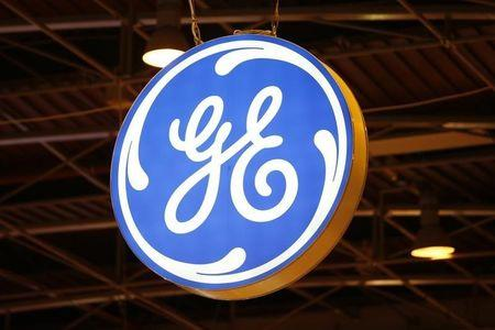 The logo of General Electric is pictured at the 26th World Gas Conference in Paris
