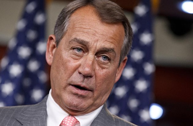 FILE - In this June 28, 2012 file photo, House Speaker John Boehner of Ohio speaks on Capitol Hill in Washington. Republicans and Democrats in Congress who congratulated themselves for passing relatively routine legislation before July 4 are returning to the Capitol for a summer stocked with political show votes and no serious role for bipartisanship. Any thought of compromise on major issues _ taxes, spending, deficit control or immigration among them _ will have to wait until after the election or the new year. (AP Photo/J. Scott Applewhite, File)