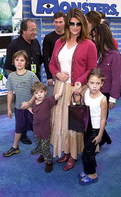 Kirstie Alley and kids at the Hollywood premiere of Monsters, Inc.