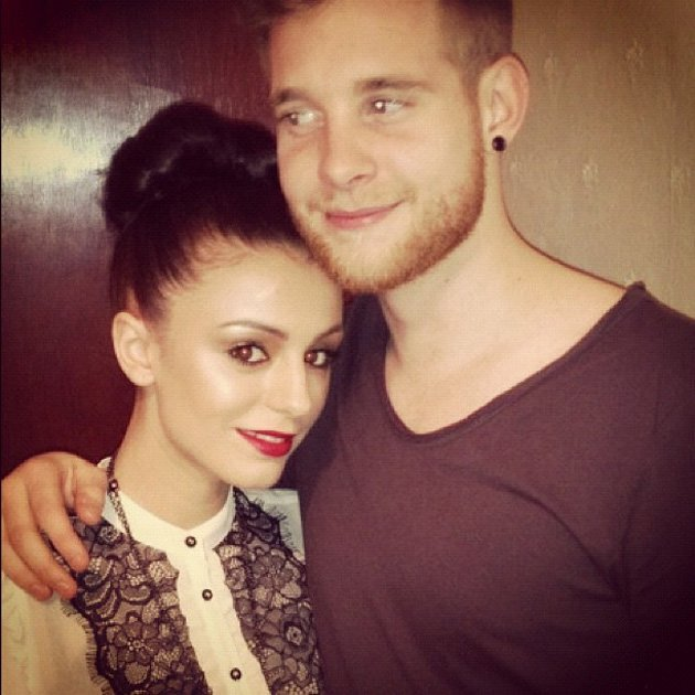 Celebrity Twitpics: Cher Lloyd tweeted this photo of herself with her fianc Craig cuddling up over the festive break. Naww. Copyright [Cher Lloyd]