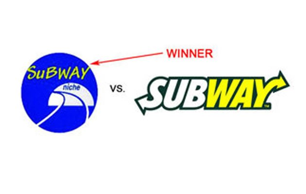 Local small-time deli Subway Niche won the face-off in court against the US sandwich giant.