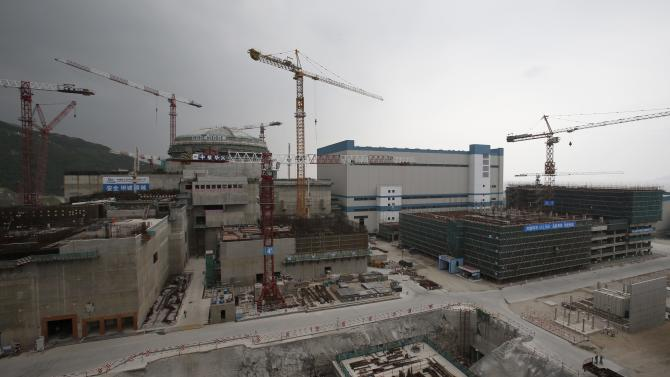 A nuclear reactor and related facilities as part of Taishan Nuclear Power Plant is under construction in Taishan, China