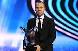 Injured Iniesta to miss three games
